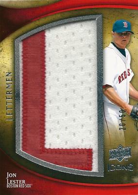 ジョン・レスター MLBカード Jon Lester 2009 UD Icons Lettermen 20/50