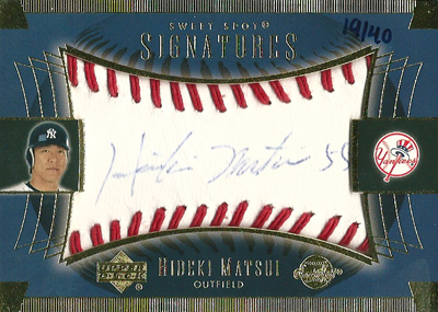 松井秀喜 MLBカード 2003 Sweet Spot Signatures Blue Ink 19/40