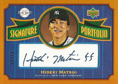 松井秀喜 MLBカード 2004 Upper Deck Play Ball Signature Portfolio 04/10