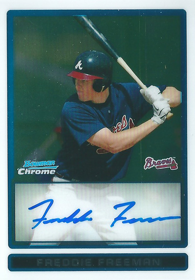 フレディ・フリーマン MLBカード Freddie Freeman 2009 Bowman Chrome Autographs