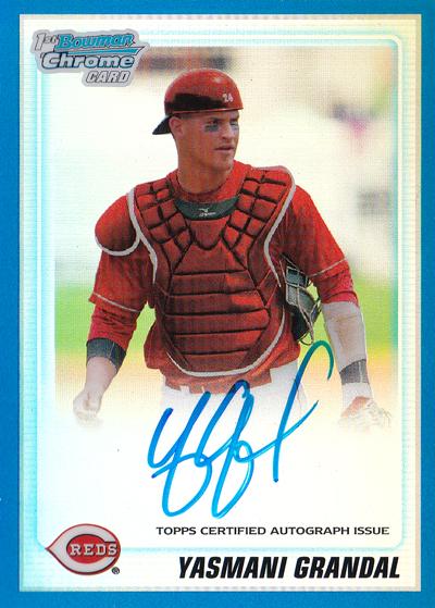 ヤスマニ・グランダル MLBカード Yasmani Grandal 2010 Bowman Chrome Draft Prospect Autographs Blue Refractors 59/150