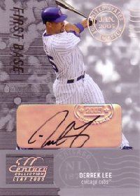 Derrek Lee 2004 Leaf Century Signature Post Marks Silver 25枚限定!
