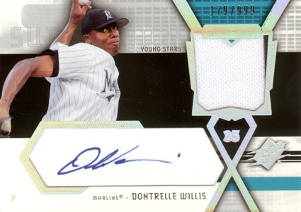 Dontrelle Willis 2004 SPx Swatch Supremacy Signatures Young Stars 999枚限定!