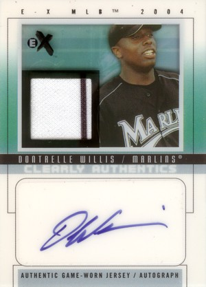 Dontrelle Willis 2004 E-X Clearly Authentics Signature Black Jersey 50枚限定!