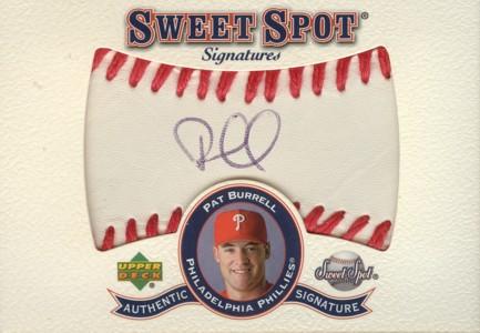 Pat Burrell 2001 Sweet Spot Signatures