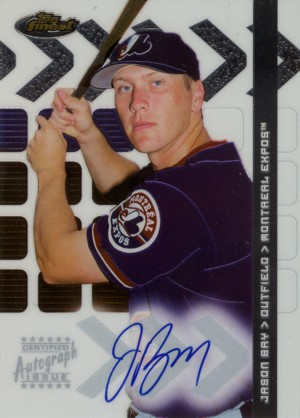 Jason Bay 2002 Finest Rookie Autograph