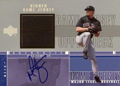 Mike Hampton 2000 Upper Deck Game Jersey Autograph