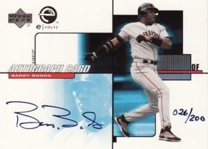バリー・ボンズ Barry Bonds 2000 Upper Deck eVolve Autograph 200枚限定!