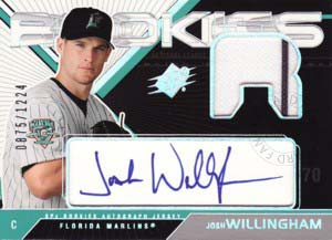 ジョシュ・ウィリンガム Josh Willingham 2003 SPx Rookies Autograph Jersey 1224枚限定!