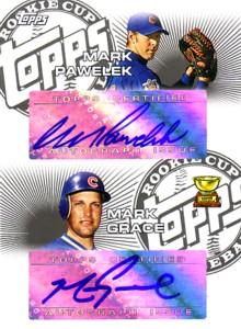 マーク・パフェレク マーク・グレース Mark Pawelek/Mark Grace 2006 Topps Rookie Cup Dual Autographs