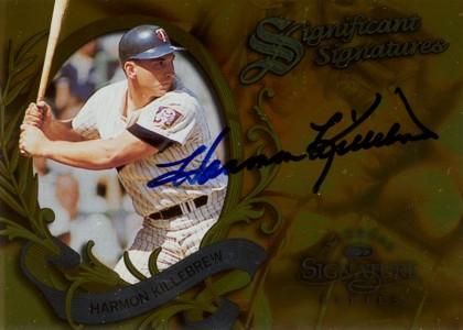 ハーモン・キルブルー Harmon Killebrew 1997 Donruss Signature Significant Signatures 2000枚限定!