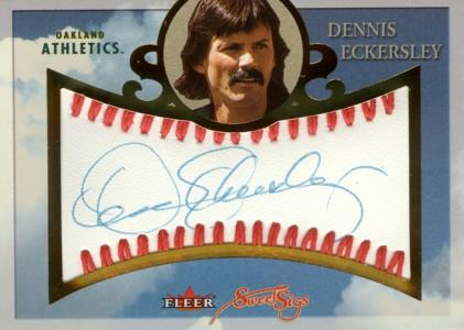 デニス・エカーズリー Dennis Eckersley 2004Fleer Sweet Sigs Autograph Gold 30枚限定!