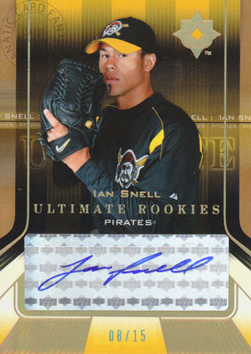 イアン・スネル Ian Snell 2004 UD Ultimate Collection Ultimate Rookies Autograph Gold 08/15枚限定!