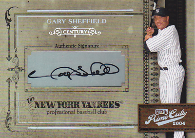 MLBカード【ゲーリー シェフィールド】2004 Playoff Prime Cuts Signature Century 25枚限定!(22/25)(Gary Sheffield)