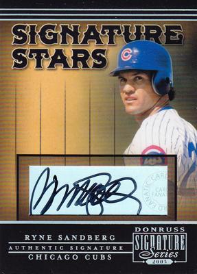 MLBカード【ライン サンドバーグ】 2005 Donruss Signature Signature Stars (Ryne Sandberg)