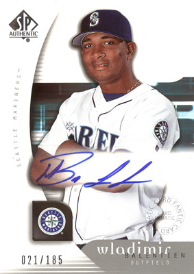 【ウラディミール バレンティン】 MLB 2005 UD SP Authentic Signatures 185枚限定!(021/185) / Wladimir Balentien