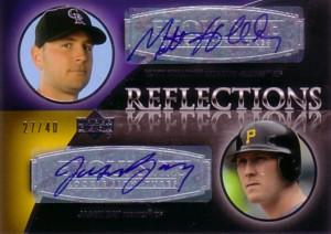 マット・ホリデイ/ジェイソン・ベイ Matt Holliday/Jason Bay 2007 Exquisite Collection Rookie Signatures Reflections Autographs 40枚限定!
