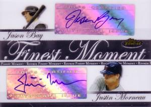 ジェイソン・ベイ/ジャスティン・モルノー Jason Bay/Justin Morneau 2007 Finest Rookie Finest Moments Autographs Dual 74枚限定!