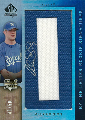 【アレックス ゴードン】 2007 SP Authentic By The Letter Rookie Signatures 50枚限定!(45/50)/ Alex Gordon