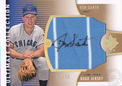 【ロン サント】2008 Ultimate Colection Road Jersey Autographs 15枚限定!(01/15)(Ron Santo)(直筆サインカード)(MLB)(メジャーリーグベースボール)