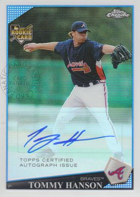 Tommy Hanson 2009 Topps Chrome Autographs Refractors  418/499枚限定!