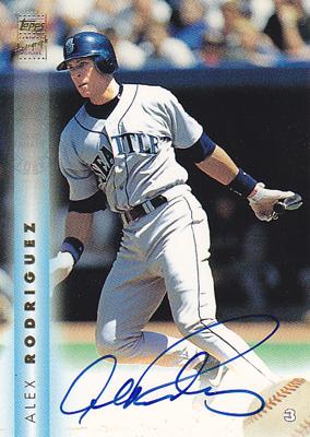 アレックス ロドリゲス / Alex Rodriguez1999 Topps Autographs