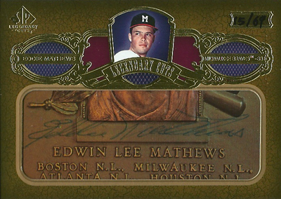 エディー マシューズ MLBカード 2007 SP Legendary Cuts Legendary Cut Signatures 69枚限定!(15/69) / Eddie Mathews
