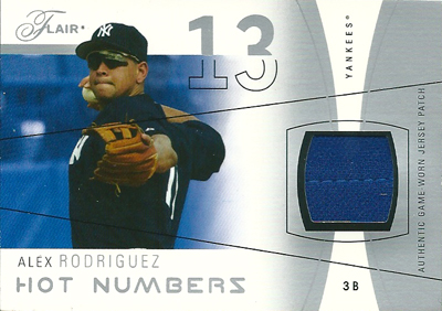 アレックス・ロドリゲス MLBカード Alex Rodriguez 2004 Flair Game Used Silver 30/50