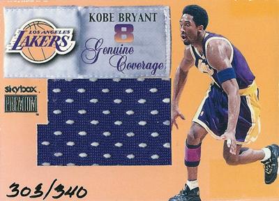 コービー・ブライアント NBAカード Kobe Bryant 99/00 Skybox Premium Genuine Coverage 303/340