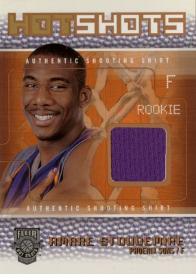 Amare Stoudemire 2002/03 Fleer Hot Shots Hot Shots Inserts Shooting Shirt Gold 150枚限定!