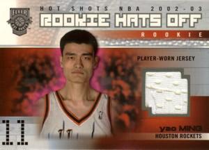 Yao Ming 2002/03 Fleer Hot Shots Rookie Hats Off Jersey 350枚限定!
