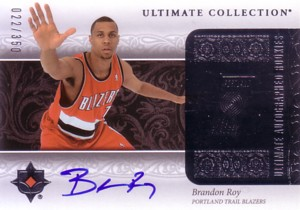 Brandon Roy 2006/07 Ultimate Collection Rookie Autograph 350枚限定!