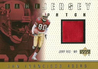 ジェリー・ライス NFLカード Jerry Rice 1999 Upper Deck Game Jersey Patch