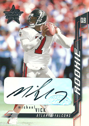 マイケル・ヴィック NFLカード Michael Vick 2001 Leaf Rookie and Stars Rookie Autographs