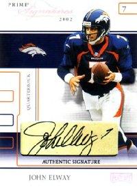 John Elway 2002 Playoff Prime Signatures Autographs 68枚限定!