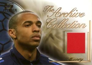 サッカーカード【ティエリ アンリ】ジャージカード 2003 Futera Jersey 250枚限定!(154/250) / Thierry Henry