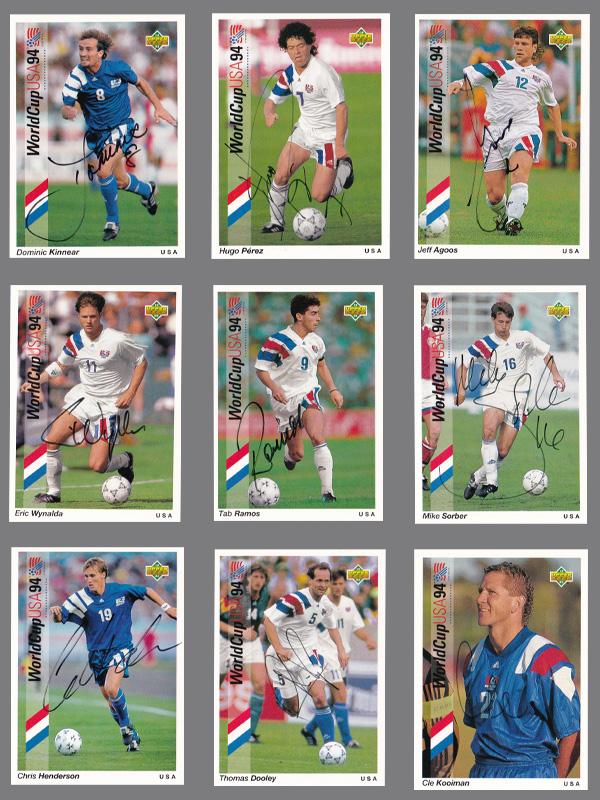 サッカーカード【UDA 1994年ワールドカップ・チームUSA直筆サインカードセット】1994 World Cup Team USA Auto Card Set