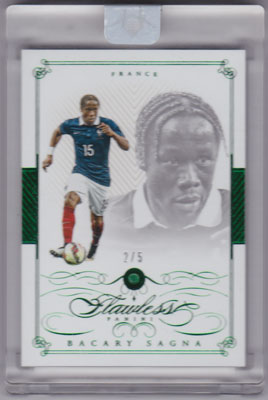 バカリ・サニャ 2016 Panini Flawless Base Gems Emerald 2/5 Bacary Sagna