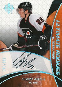 クロード・ジロー NHLカード Claude Giroux 08/09 Ultimate Collection Rookie Autographs 187/399