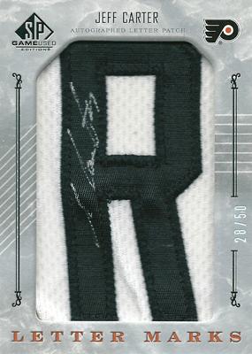 ジェフ・カーター NHLカード Jeff Carter 2006/07 SP Game Used Letter Marks 28/50