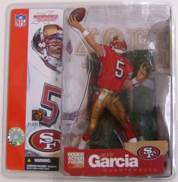 NFL マクファーレン シリーズ5ジェフ・ガルシア(49ers/レッド)