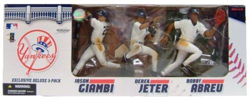 マクファーレン MLB 3体セット ニューヨーク・ヤンキース/New York Yankees ジェイソン・ジアンビー/デレク・ジーター/ボビー・アブレイユ