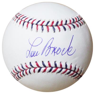 ルー・ブロック / Lou Brock 直筆サインボール / 2009 オールスター公式球