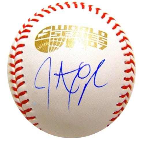 ジョナサン・パペルボン / Jonathan Papelbon 直筆サインボール 2007 ワールドシリーズ公式球 20P05Sep15