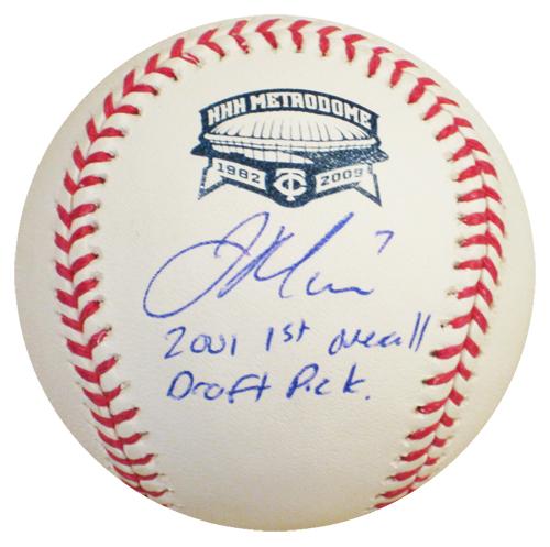 ジョー・マウアー MLB 直筆サインボール (2001 1st Overall Draft Pick)インスクリプション入り / Joe Mauer