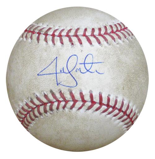 ジョン レスター 公式戦実使用 再販ご予約限定送料無料 直筆サインボール 2009年4月24日 国産品 Jon Lester