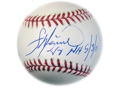 (セール)フランシスコ リリアーノ MLB オーセンティック 直筆サインボール (NH 5/3/11)インスクリプション入り/Francisco Liriano