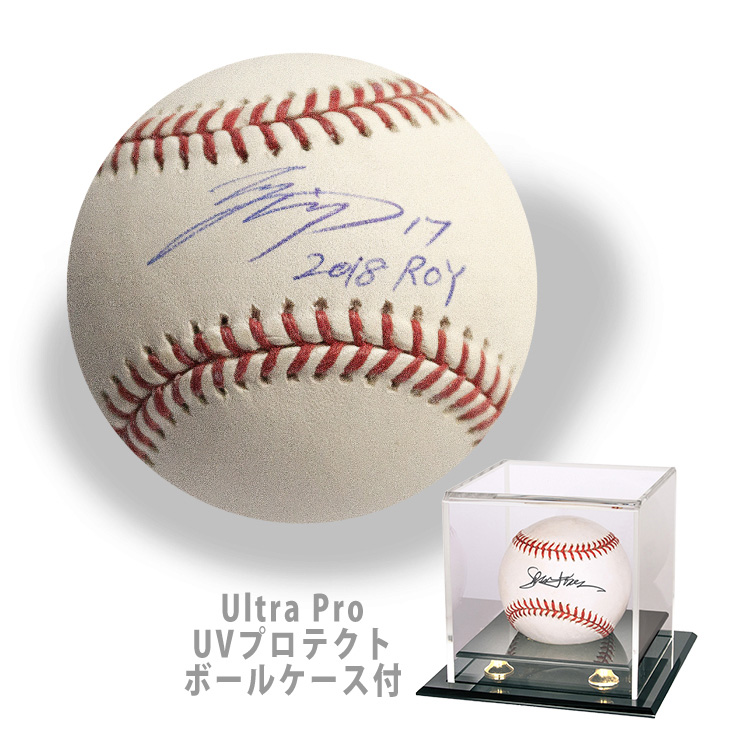 大谷翔平 2018 ROY 入り直筆サインボール / Shohei Ohtani Autographed Inscribed 2018 ROY Baseball  UP-84410付属