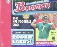 ボックス Bowman 2003 NFL Jumbo
