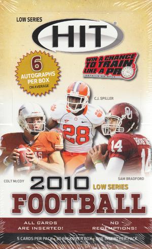 【3/12入荷!】 2010 Sage Hit Low Series Football ボックス (アメリカンフットボール) (トレーディングカード) (アメフトカード)